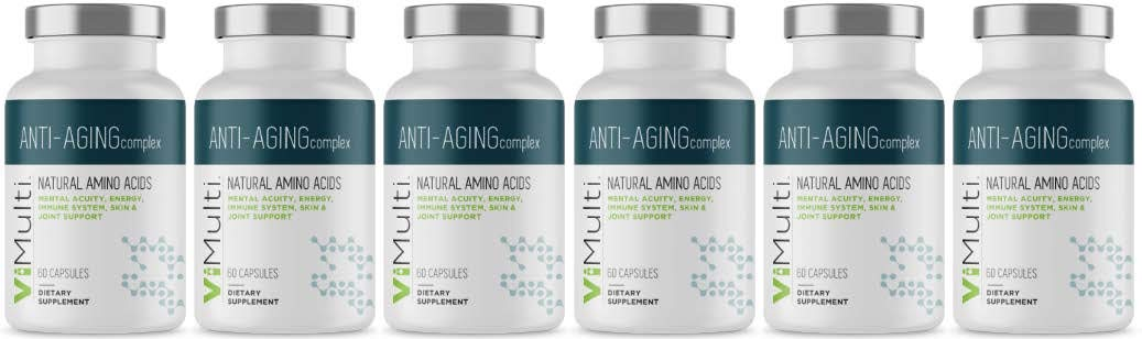 ViMulti Best Natural Amino Acid Anti-Aging Supplement for Longevity (6 Month Supply) - Clinically Proven - Supports Mental Acuity, Immune System, Skin Tone, Endurance & Energy
