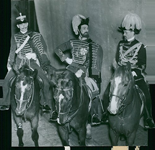 - Vintage photo of Svea Life Guards 150th anniversary, guards riding on the horse.