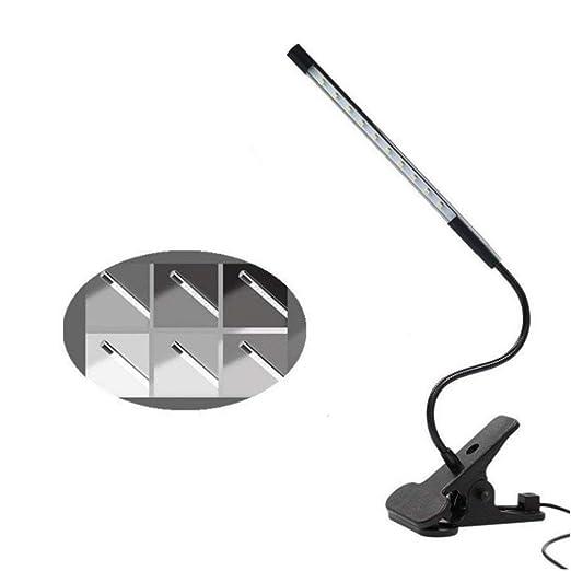 Bonlux USB LED Dimmable Desk Lamp Reading Clip Light, Night