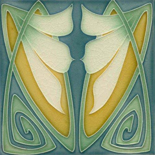 - Art Nouveau Ceramic Tile 6 Inches Reproducction #012