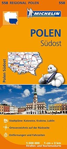 Michelin Polen Südost: Straßen- und Tourismuskarte 1:300.000 (MICHELIN Regionalkarten)