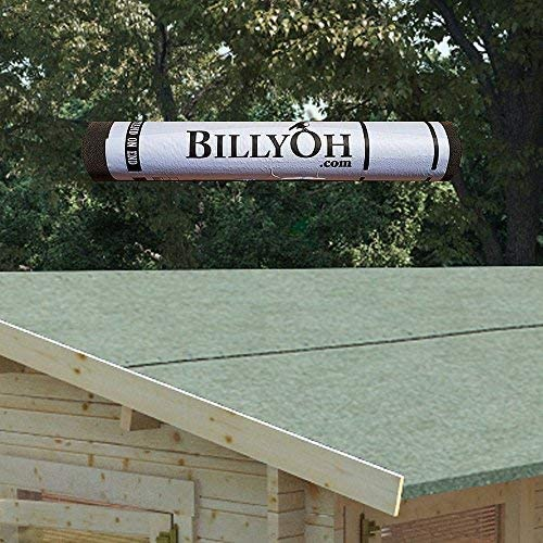 Billyoh Premium Green Mineral Shed Roofing Felt 10m Roll With Fixings Amazon Co Uk Garden Outdoors