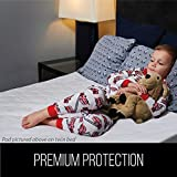 Gorilla Grip Slip-Resistant Leak Proof Incontinence Toddler Mattress Bed Pad Cover, Oeko Tex Certified Safe, Absorbs up to 8 Cups, Waterproof, Washable, Reusable Enuresis Bed Wetting Pads