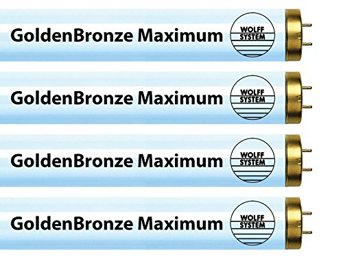 Wolff System GoldenBronze Maximum F71T12 100W Bipin Tanning Bulbs - Intense Bronze (16) Dark Tan Tanning Bed Bulbs