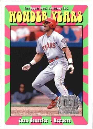 1999 Upper Deck Wonder Years Baseball Card #W9 Juan Gonzalez 1999 Upper Deck Wonder Years