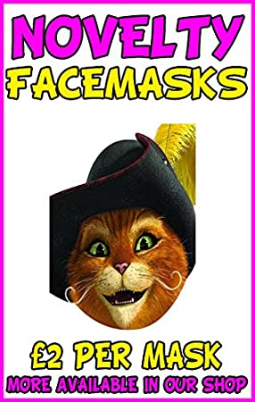 0bca35c1 Image Unavailable. Image not available for. Colour: Puss In Boots Novelty  Celebrity Face Mask ...