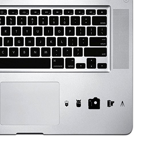 StickAny Palm Series Camera Set Icons Sticker for Macbook Pro, Chromebook, and Laptops (Black)