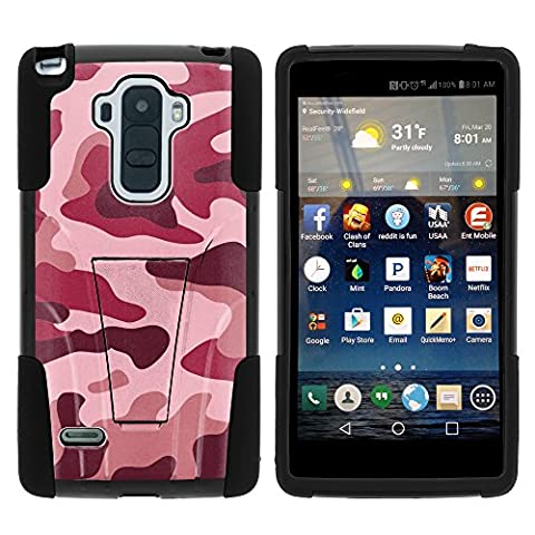 LG G Stylo Case, Dual Layer Shell STRIKE Impact Kickstand Case with Unique Graphic Images for LG G Stylo LS770, LG G4 Stylus (T Mobile, Boost Mobile, Sprint) from MINITURTLE | Includes Clear Screen Protector and Stylus Pen - Red (Cover De Lg 70)