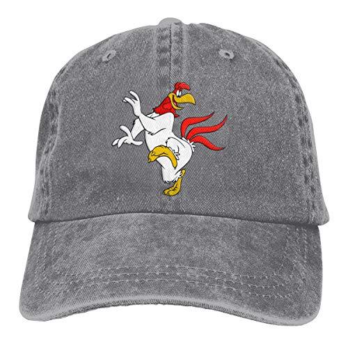 YUERF Foghorn Leghorn Retro Adjustable Cowboy Denim Hat Unisex Hip Hop Gray Baseball -