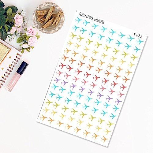 Airplane Planner Stickers//Travel Stickers//Functional Stickers//Erin Condren//Plum Paper//Happy Planner//Sew Much Crafting//Filofax #033