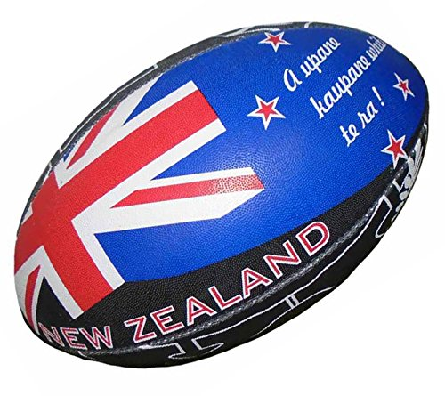 100% RUGBY Ballon de rugby - Nouvelle Zélande - Collection supporter - Taille 5 [Divers]