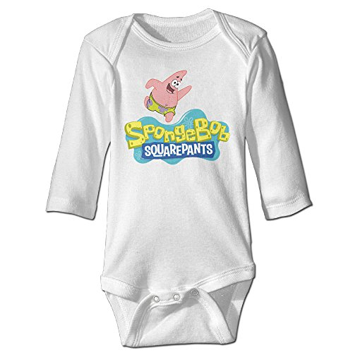 [Boss-Seller The SpongeBob Long-Sleeve Romper Outfits For 6-24 Months Newborn Baby Size 12 Months] (Spongebob Outfit)