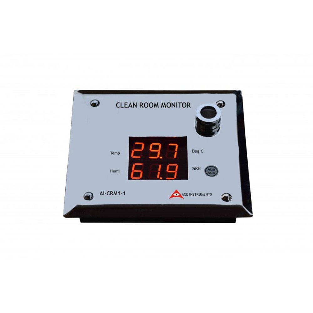 Ace Instruments AI-CRM2-LED Internal SensorClean Room monitor Humidity Temperature along with Calibration Certificate