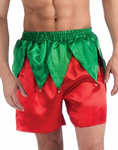 (Forum Men's Elf Boxer Shorts, Red/Green, One Size)