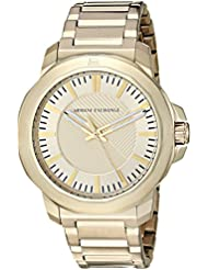 Armani Exchange Mens Quartz Stainless Steel Casual Watch, Color:Gold-Toned (Model: AX1901)