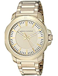 Armani Exchange AX1901 Men's Quartz Stainless Steel Casual Watch, Gold-Toned