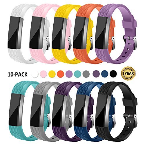 Gymu Fitbit Ace Bands for Kids,Fitbit Alta HR Bands,Fitbit Alta Bands, Diamond Replacement Wristbands with Secure Metal Buckle Clasp for Fitbit Alta Alta HR Ace (Original Size for Fitbit Ace)