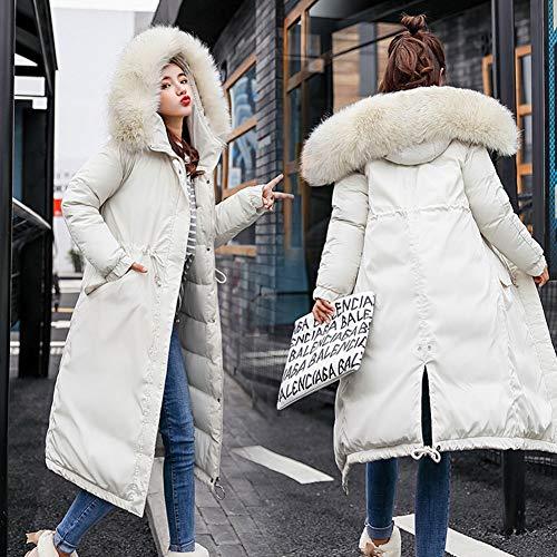 Matelass Blouson Hiver Doudoune Femme Long Veste Fourrure Col paissie LPATTERN Chaud Blanc Manteau Fourrure Capuche Blanc Parka Y81q00