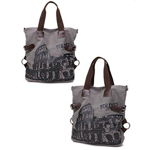 Bags Handbag Shopping for Bag Shoulder Nlyefa Office Women's Canvas School Gray Travel Tote Large Hobo Handbag 6nAqSfExqw