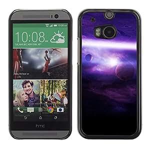 Púrpura Iluminación - Metal de aluminio y de plástico duro Caja del teléfono - Negro - HTC One M8