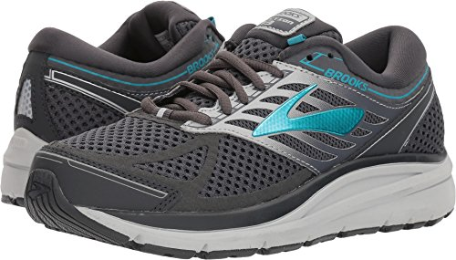 Brooks Women's Addiction 13 Ebony/Silver/Pagoda Blue 8.5 B US (Best Walking Shoes For Pronation Control)