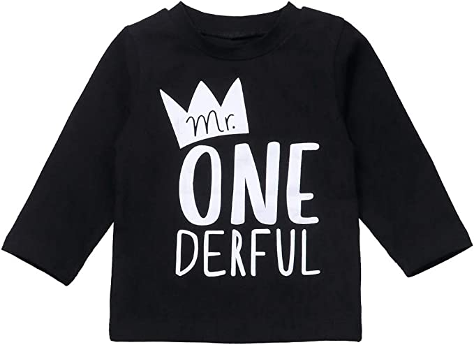 Amazon.com: Conjunto de ropa de bebé para primer cumpleaños ...