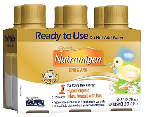 Price comparison product image Enfamil Nutramigen Infant Formula, Ready to Use, 8 Fluid Ounce Bottle, 6 Count