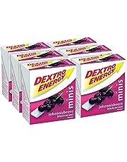 Dextro Energy Minis Johannisbessen/mini-druivensuiker-tappeltje met snel beschikbare glucose voor onderweg/6 verpakkingen (6 x 50 g)