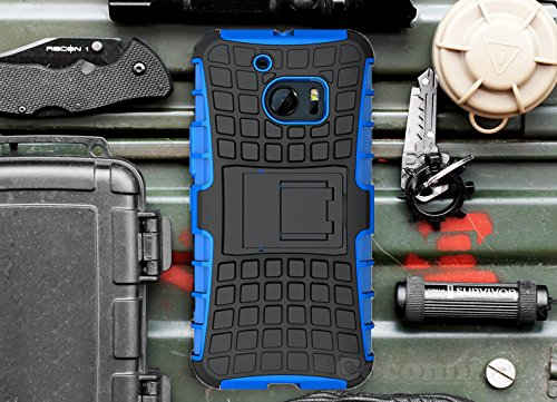 For HTC 10 Case, Cocomii Grenade Armor NEW [Heavy Duty] Premium Tactical Grip Kickstand Shockproof Hard Bumper Shell [Military Defender] Full Body Dual Layer Rugged Cover (G.Blue) Blue Grenade