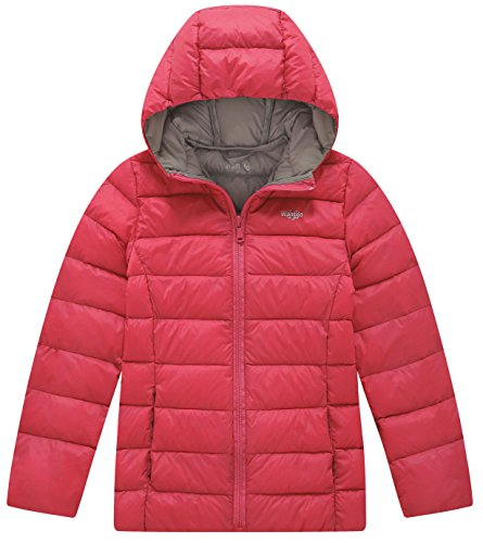 Hooded Jacket Wantdo Lightweight Down Red Puffer Winter Girl's Oriental qxOYxAt