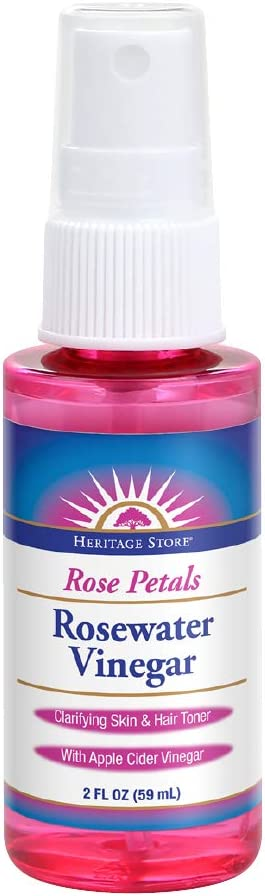 Heritage Store Rosewater Vinegar | with Apple Cider Vinegar | Hydrates, Refreshes & Clarifies Skin | No Alcohol | 2oz