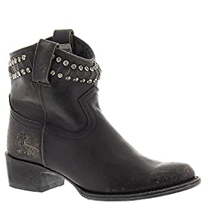 FRYE Women's Diana Cut Studded Short Boot Black 6.5 M US