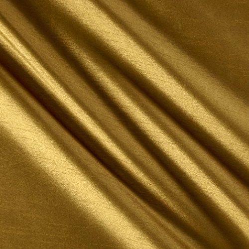WORLD WIDE FABRIC 0558469 Worldly Faux Dupioni Silk Brass Fabric by The Yard