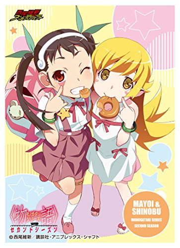 Shinobu Oshino Mayoi Hachikuji Bakemonogatari Mat Series Anime Loli Girl Character Card Game Sleeves Collection Monogatari Second Season