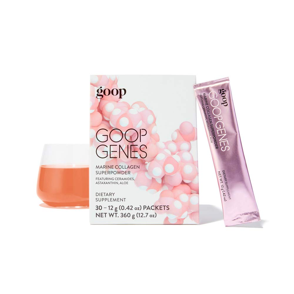 Goopgenes Marine Collagen Super Powder! Anti Aging Collagen Powder Featuring Ceramides, Astaxanthin and Aloe Vera! Keeps Skin Firm, Plump, and Elastic! Choose from 5 Pack or 30 Pack! (30)
