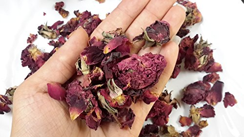 (Luna Retail Corp Herbs Handpicked Organic Aromatic Dried Rose Buds and Petals, Rich Fragrance, Bath Tubs, Wedding Confetti (16 oz) - 1 lb)