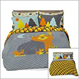 Full/Queen Woodland Creatures Duvet Cover Set with 2 Pillowcases for Kids Bedding - Double Brushed Ultra Microfiber Luxury Set By Where The Polka Dots Roam (L 90in x W 92in)