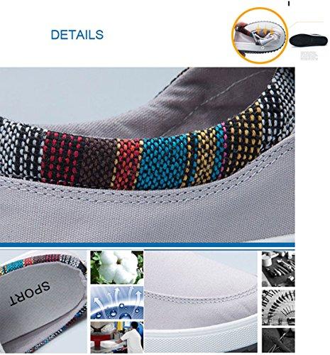 deporte Zapatillas lona deporte de de de de Negro Zapatillas de Mocasines para deporte Alpargatas Zapatillas casuales para hombre Gaorui Calzados hombre OZ5wPq7wF