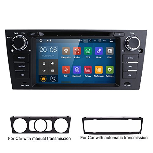 For BMW E90/2006-2011 E91/2006-2011 E92/2006-2011 E93 Android 7.1 Quad Core 7 Inch Car Stereo Multi-Touch Screen Radio CD DVD Player 1080P Video Screen (Bmw Navigation System)