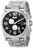 Vestal Men's DEV001 De Novo Silver Black Retrograde Chronograph Watch