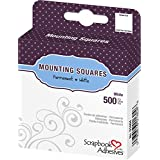 3L 1/2-Inch by 1/2-Inch Permanent Mounting Squares 500/Pkg, White