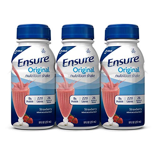Ensure Original Strawberry Flavor 8 oz. Bottle Ready to Use, 57234 – Each
