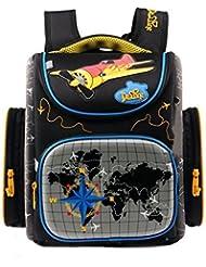 Moonwind Boys Backpack for Kids Elementary School Book Bags Folding Schoolbag
