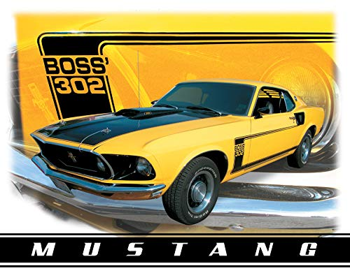 Ford Mustang Boss 302 Car Retro Vintage Tin Sign