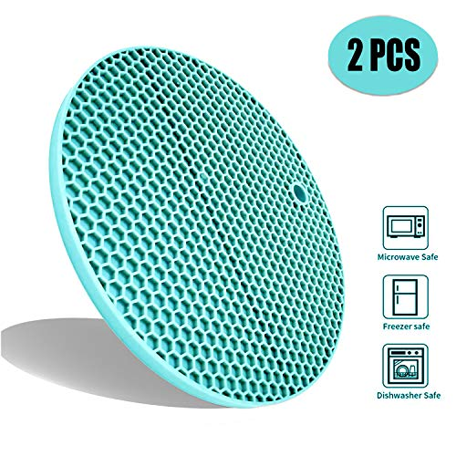 Honeycomb Dish - Extra Thick Silicone Trivets Heat Resistant Pot Holder and Oven Mitts,Trivets for Hot Dish,Nonslip Insulation Honeycomb Rubber Hot Pads for Countertop,Multi-Purpose & Flexible Mats Set of 2
