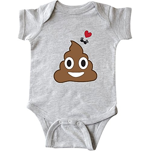 inktastic - Valentine's Day Love Poop Infant Creeper Newborn Heather Grey 28b05
