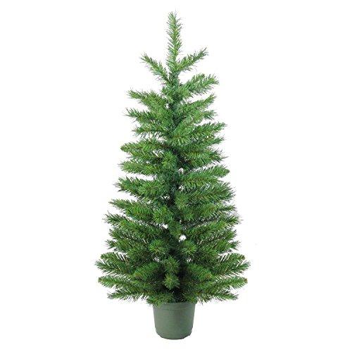 Northlight Slim Walkway Artificial Potted X-Mas Tree, 4' , Green (Trees Walkway Christmas)