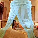 Dome ceiling princess bed canopy, Palace Enlarge Double Oversized mosquito net mosquito-curtain for twin Queen and king size -F Twin2