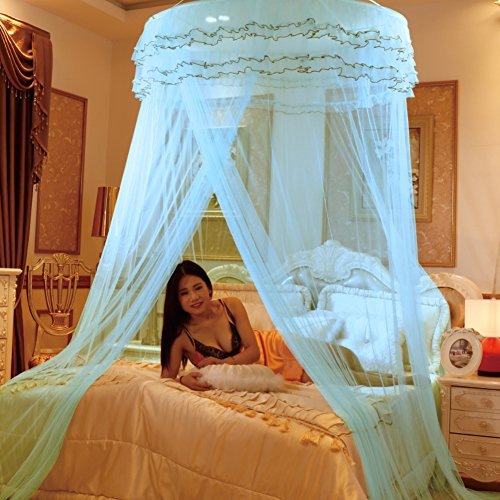 Dome ceiling princess bed canopy, Palace Enlarge Double Oversized mosquito net mosquito-curtain for twin Queen and king size -F Queen1 by DE&QW