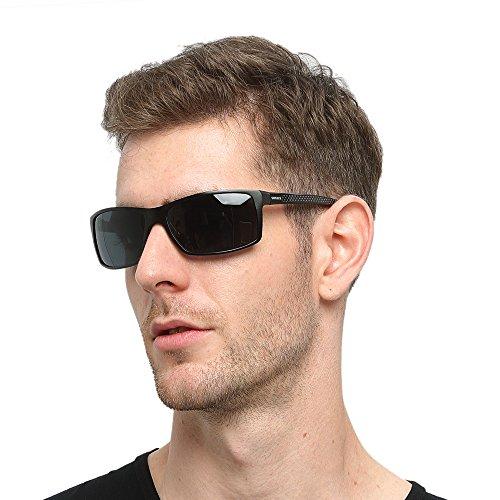 eeeb547835 Soxick Men s Polarized Sunglasses UV400 Retro Unbreakable Metal Driving  Sunglasses